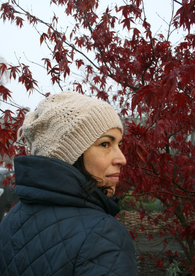 Slouchy lace hat and cowl 160 1