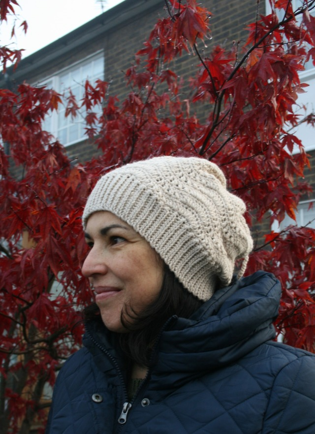 Slouchy lace hat and cowl 160 6