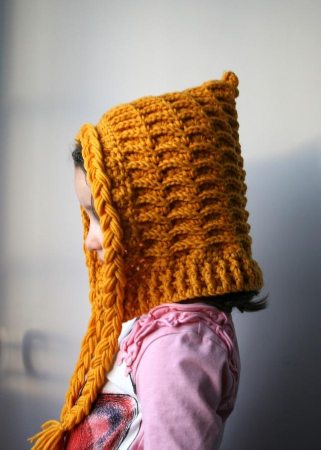 Luz Patternsdotcom Textured tassel hood hat 164