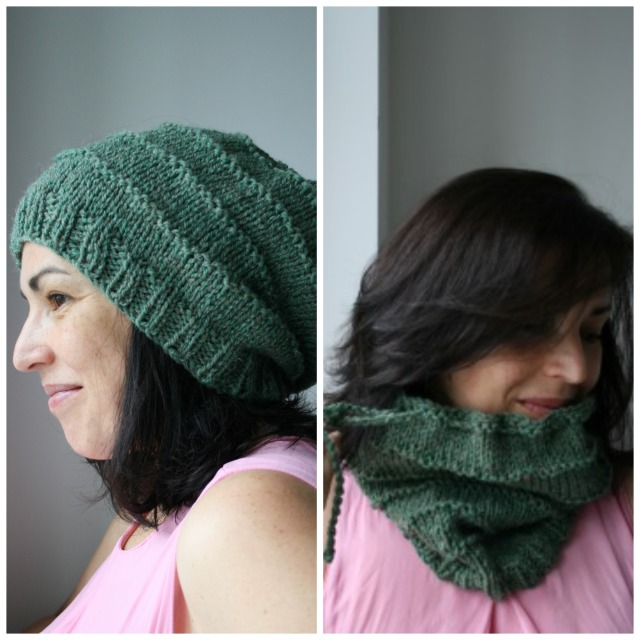 Slouchy green collage