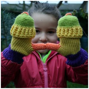 LuzPatterns colour mittens
