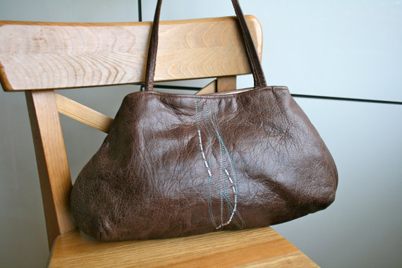 LuzPatterns.com leather bag with embroidery 1
