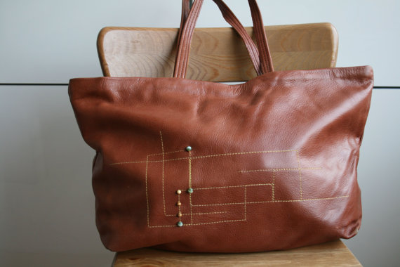 LuzPatterns.com leather bag with embroidery 7