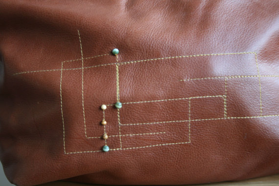 LuzPatterns.com leather bag with embroidery 8