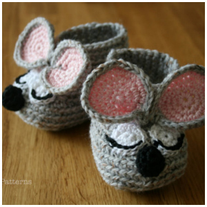 LuzPatterns.com mouse slippers