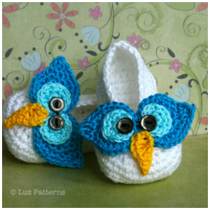 LuzPatterns.com Owl slippers