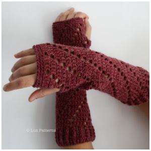 LuzPatterns.com red arm warmer