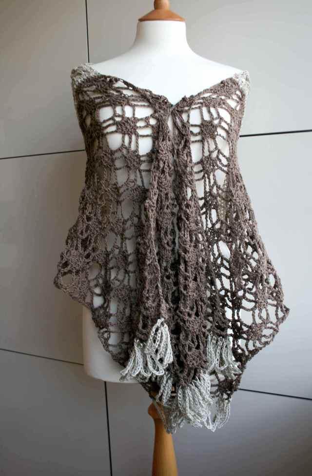 LuzPatterns.com Cotton linen summer poncho wrap 175 1