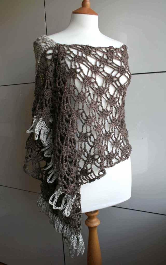 LuzPatterns.com Cotton linen summer poncho wrap 175 2