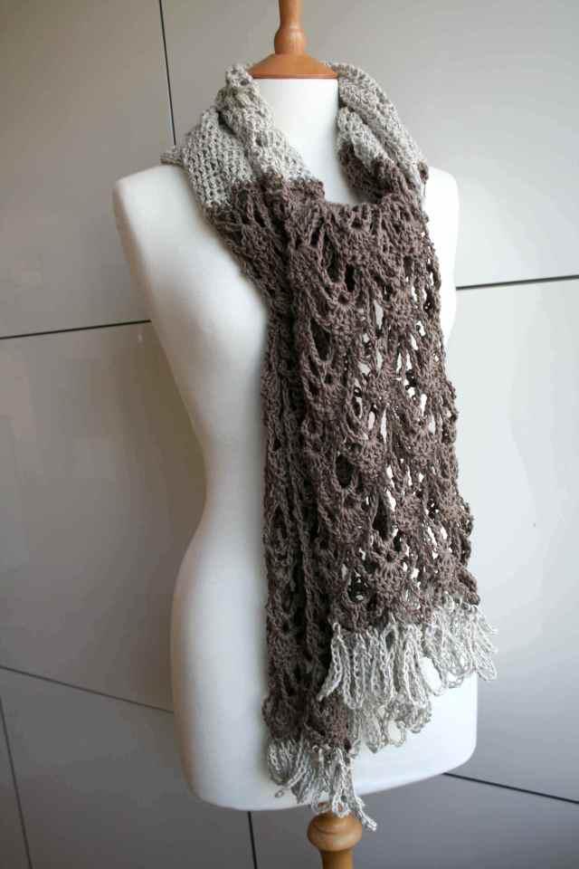 LuzPatterns.com Cotton linen summer poncho wrap 175 5