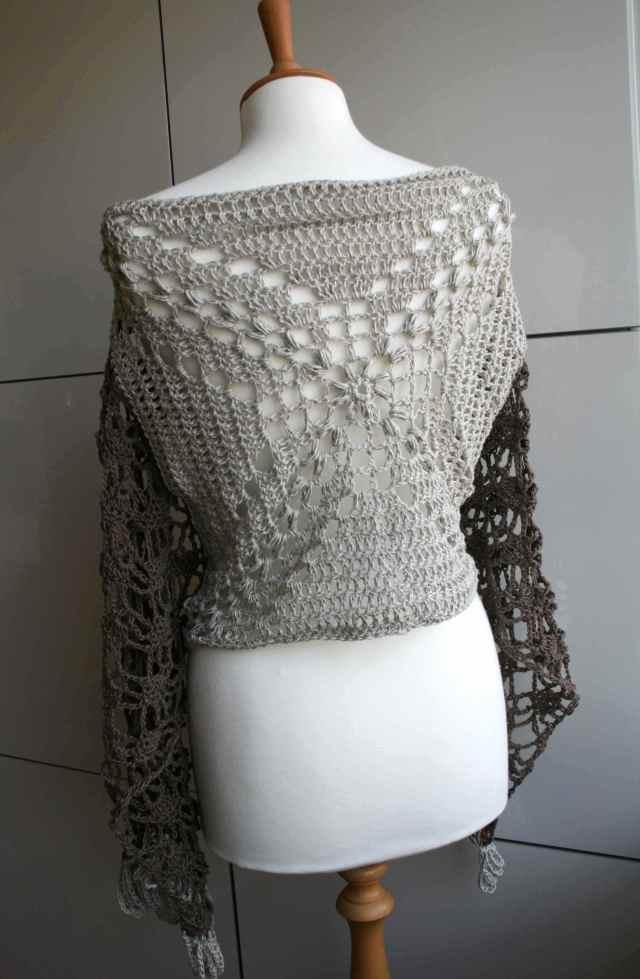 LuzPatterns.com Cotton linen summer poncho wrap 175