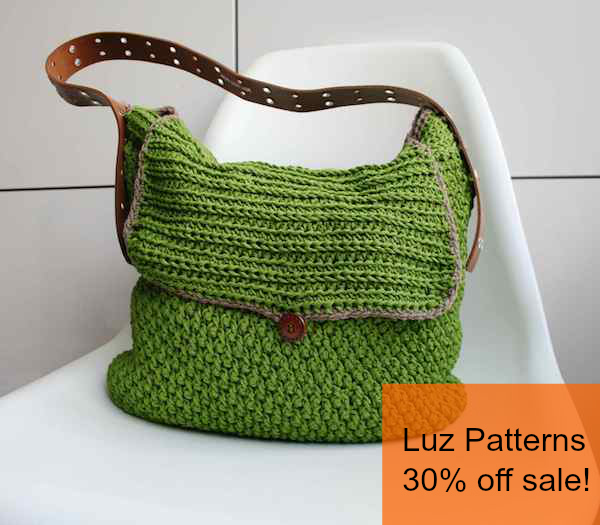 LuzPatterns.com 30% sale on crochet and knitting patterns