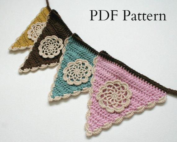 flower crochet bunting