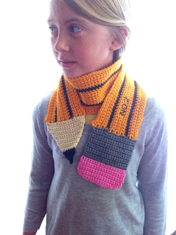 Knitting Pattern For Pencil Scarf : Back to school crochet, sewing and knitting inspiration ...