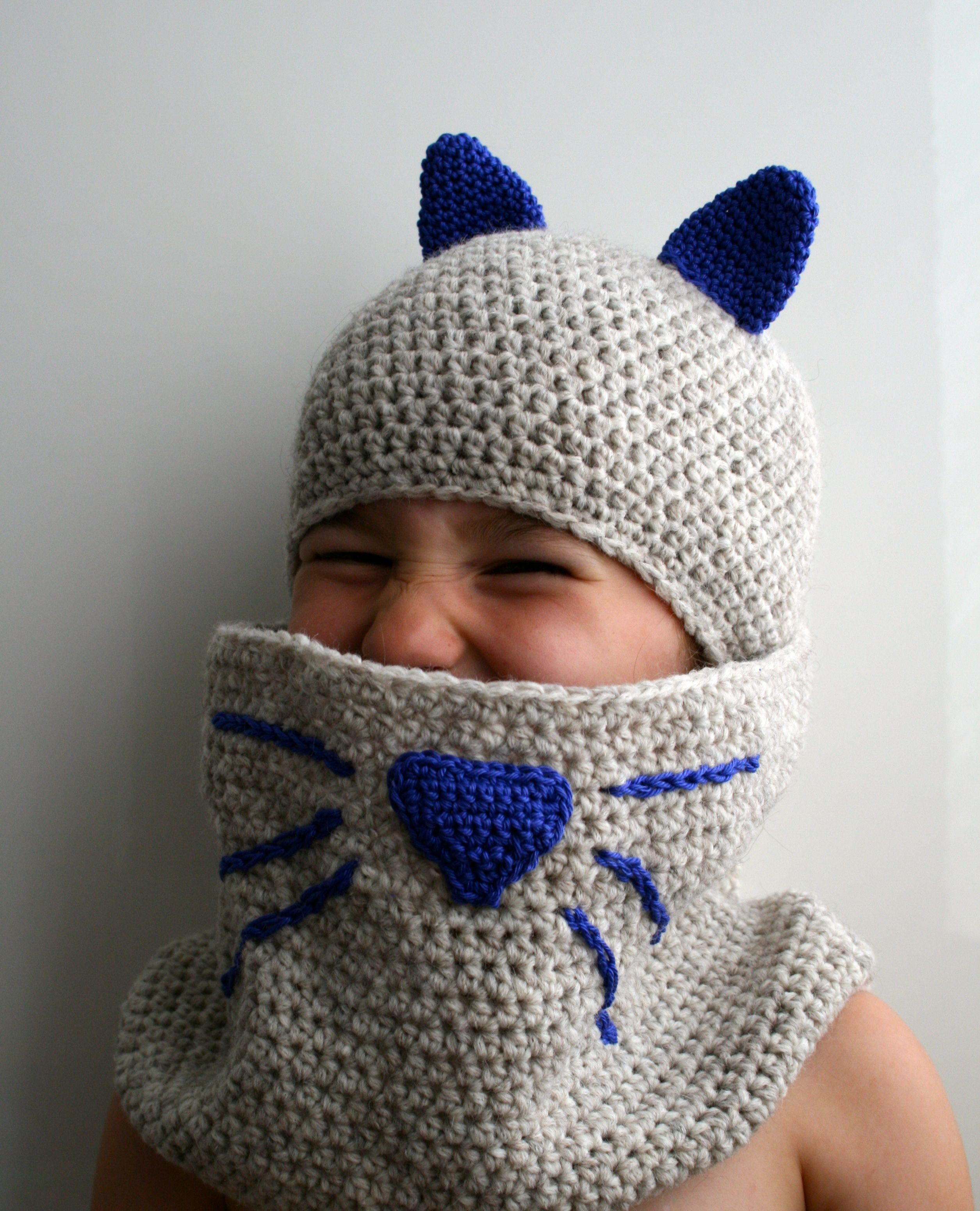 Crochet Caterpillar Hat Pattern : baby crochet cat hat and cowl Archives - Luz Patterns