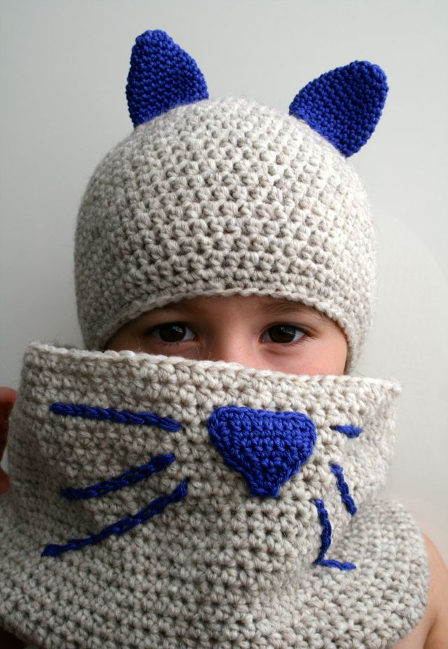 Cat hat and cowl 180 4