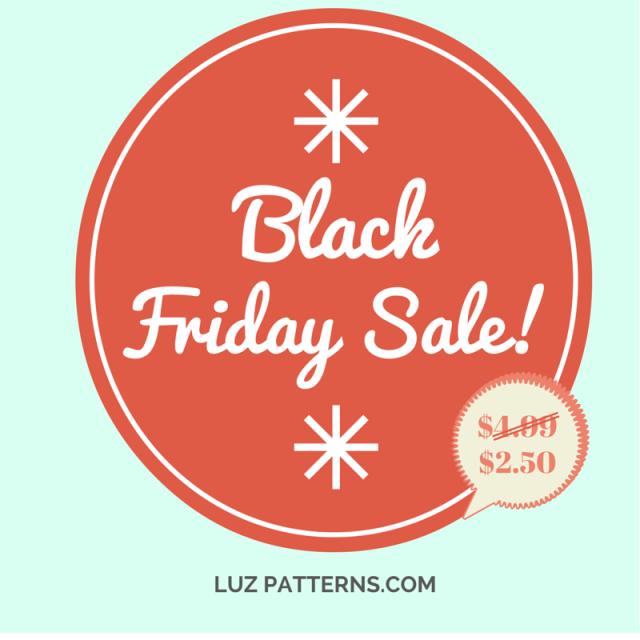 LuzPatterns.com Black friday sale 50%off!