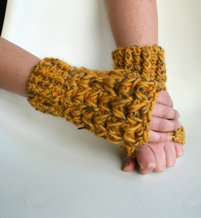 Super Chunky fingerless gloves 198 5