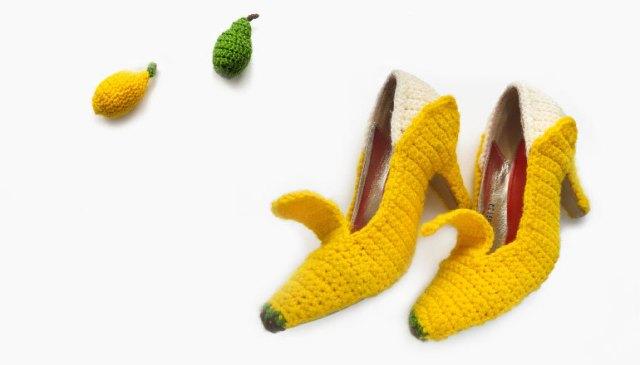 LuzPatterns.com banana shoes by FruitPunchByMayanile