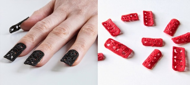 LuzPatterns.com crocheted nails by hooklook