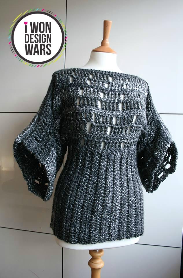 LuzPatterns.com Final DWC week 3 kimono poncho chrochet pattern