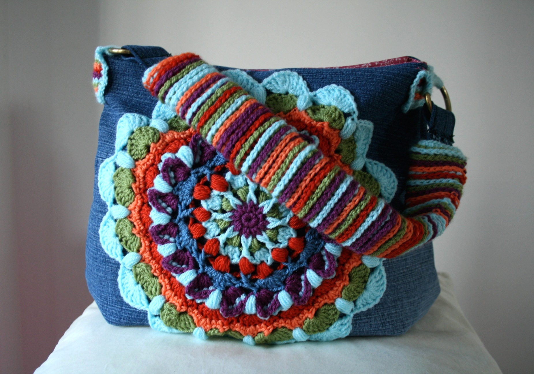 Bags And Purses Patterns : ... denim and crochet bag pattern giveaway! CLOSED! - Luz Patterns