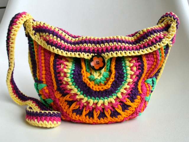Crochet mandala girls bag 202 10