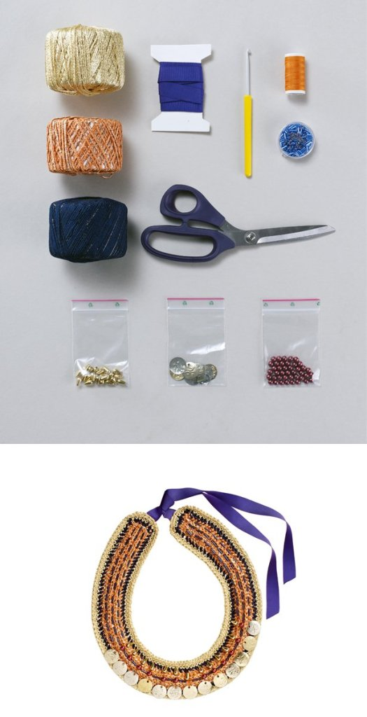 Blogged at LuzPatterns.com Burda Style tutorial crocheted necklace